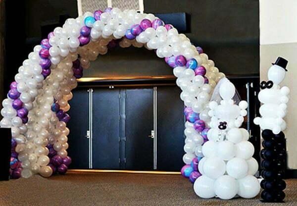 Cổng chào đám cưới bằng bong bóng